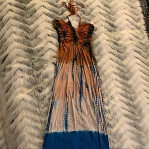 Sky Tie-Dye Maxi Dress